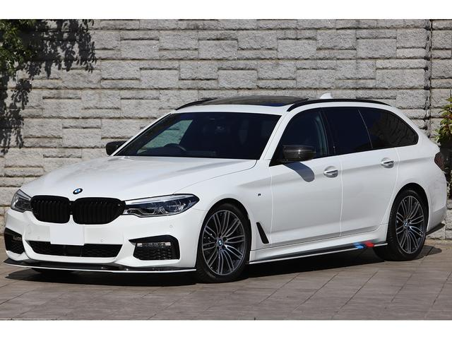 BMW 5シリーズ 530iツーリング Mスポーツ パノラマサンルーフ 3Dデザインカーボンエアロ 車高調 Mブレーキ ワンオーナー