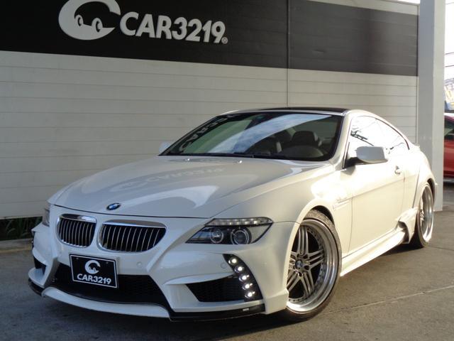 BMW 650i ENERGYコンプリート 20インチAW ブラックレザー ローダウン サンルーフ BMW純正ナビ HID ENERGYマット シートヒーター プッシュスタート パークセンサー