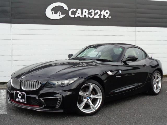 BMW Z4 sDrive23i シルクブレイズエアロ 3Dデザインマフラー デュフェーザー ベージュ革 シートヒーター 電動オープン パドルシフト 純正HDDナビ ETC HID アイライン