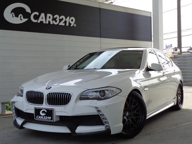BMW 535i エナジーコンプリート サンルーフ エアロ 21AW マフラー ローダウン 革シート シートヒーター HDDナビ 地デジ バックカメラ ETC LEDテール クルコン パワーシート