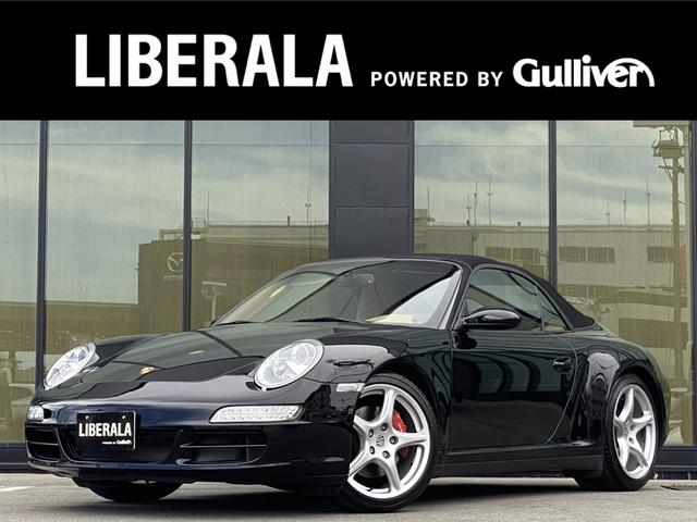 ポルシェ 911カレラ4S カブリオレ 2008 0910111214161719ポルシェセンター記録簿あり スペアキー 取説 保証書 ベージュ革 社外メモリナビ フルセグ  シートヒーター  PASM レーダー