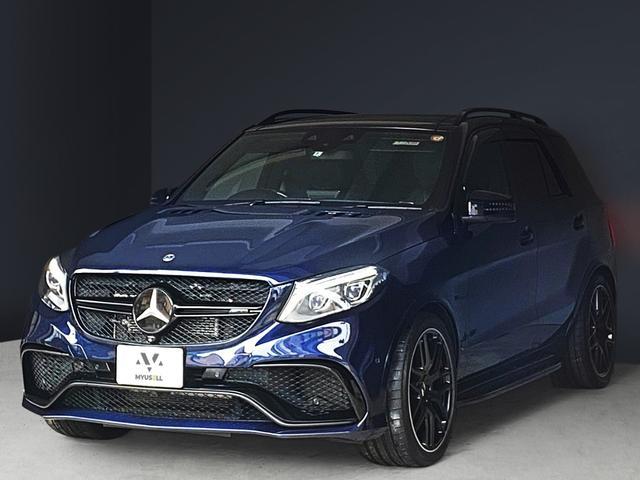 メルセデスAMG GLE63 S 4マチック カーボンステアリング/グリル・リップ・サイドステップ・リアディフューザーブラック塗装/ドアモール・ルーフレールブラックラッピング/各エンブレムブラック塗装/ドアハンドル同色/ロワリング/スペーサー
