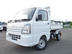 キャリイトラック新明和製強化ダンプ・4WD・MT・キーレス・PW