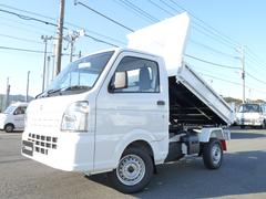 キャリイトラック新明和製強化ダンプ・4WD・MT・キーレス・PW【軽ダンプ】