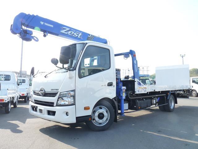 日野 タダノ製前方格納2.63t吊4段クレーン積載車