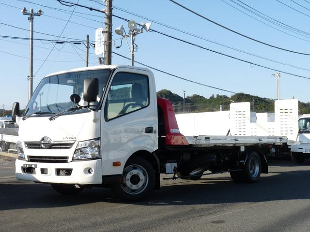 日野 極東製・2.9t積載車・フラトップゼロII・開閉アオリ