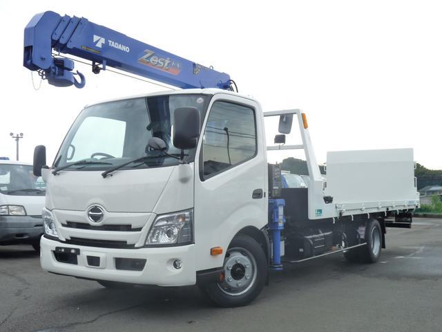 日野 2.65t・タダノ製4段クレーン付花見台製積載車・開閉アオリ