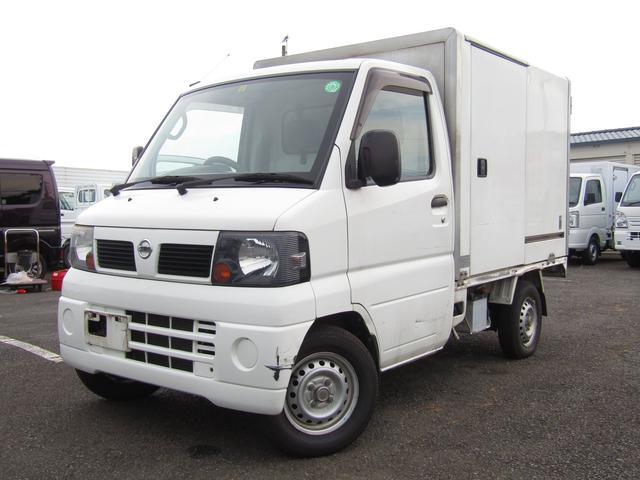 日産  菱重コールドチェーン製冷蔵冷凍車・中温・-5℃〜25℃設定・片側サイドスライドドア・2WD・AT