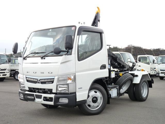 三菱ふそう キャンター  3t・極東製フックロール・2WD・MT・キーレス