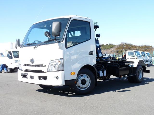 日野  4t・ワイド・新明和アームロール・MT・スマートキー・PCS