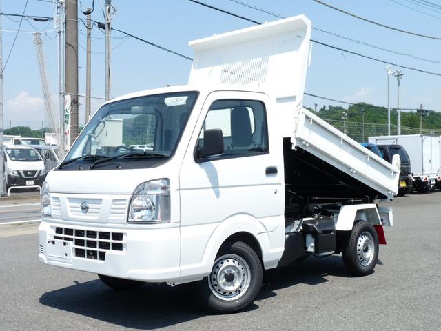 日産 NT100クリッパートラック  新明和製強化ダンプ・4WD・MT