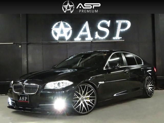 BMW 528i 純正メーカーナビ 黒革シートヒータ ENERGY20インチAW 新品車高調 ハーフエアロ HIDライト 地デジTV バックカメラ スマートキー