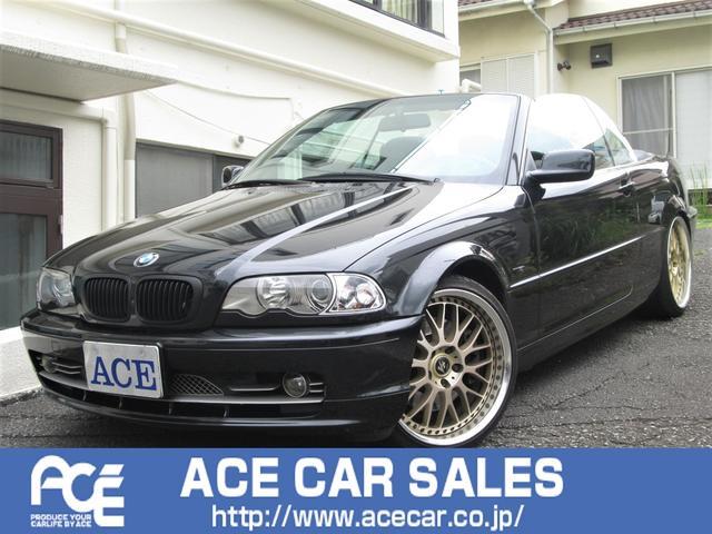 BMW 3シリーズ 330Ciカブリオーレ 4シ-タ-電動オ-プン/左ハンドル/3.0L直6エンジン/WORK19インチAW/黒革シ-ト/ETC/HID/キ-レス