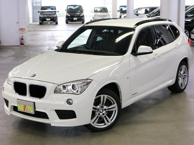 BMW X1 sDrive 20i Mスポーツ 純正ナビ Bluetooth DVD CD AUX Bカメラ ETC HID フォグ オートライト ミラーウィンカー ルーフレール スマートキー プッシュスタート オートエアコン 純正18インチアルミ