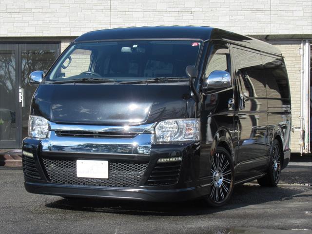 トヨタ ハイエースワゴン GL 1オーナー スマートキー パワースライドドア LEDヘッド 内装架装 カロッツェリアナビ フリップダウンモニター レール付き回転シート ベッドキット AC100V ローダウン 20インチAW 車中泊