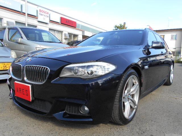 BMW 5シリーズ 523iツーリング Mスポーツパッケージ 後期・2000ccターボ・パノラミックサンルーフ・ブラウンレザースポーツシート・Mエアロ・19インチアルミ・純正ナビ・地デジTV・バックカメラ・スマートキー・ETC・HID