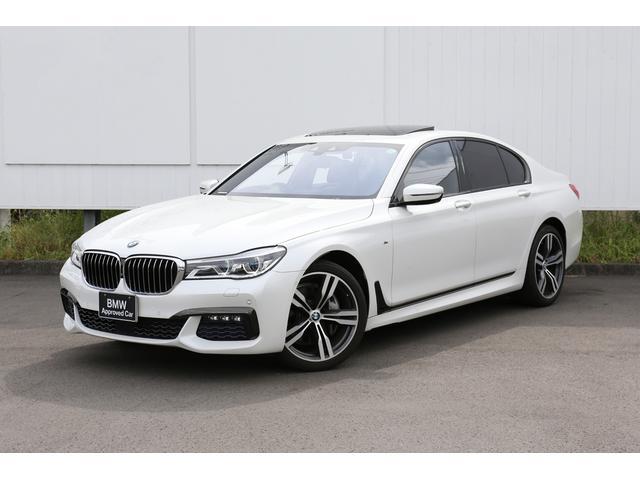 BMW 7シリーズ 740d xDrive Mスポーツ 〈紹介動画有〉エアサス サンルーフ シートマッサージ ブラウンレザーシート ハーマンカードン ディスプレイキー リアサンシェード 弊社下取1オーナー 禁煙