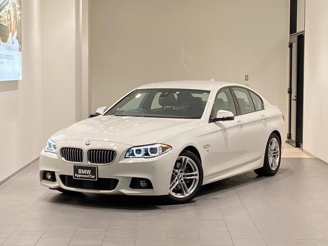BMW 5シリーズ 528i Mスポーツ 禁煙車 黒レザー電動シート シートヒーター インテリジェントセーフティー アクティブクルーズコントロール フルセグTV/DVD再生/BT/バックカメラ LEDヘッドライト パドルシフト 前後センサー