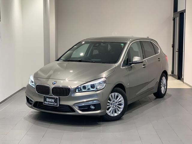 BMW 218dアクティブツアラー ラグジュアリー ブラックレザーシート 電動テールゲート ウッドトリム  コンフォートアクセス シートヒーター 後方カメラ/センサー インテリジェントセーフティ LEDヘッドライト 禁煙車 弊社下取1オーナー