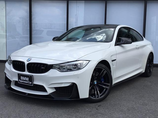 BMW M4クーペ アダプティブMサスペンション 19インチホイール ブラックレザーシート ヘッドアップディスプレイ LEDヘッドライト 地デジ バックカメラ 衝突軽減ブレーキ シートヒーター カーボントリム
