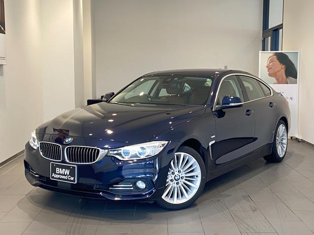 BMW 420iグランクーペ Mスポーツ ブラウンレザー電動シート 禁煙車 アクティブクルーズコントロール シートヒーター 電動トランク 木目調トリム 衝突軽減ブレーキ Bluetooth/USB バックカメラ 後方センサー 純正HDDナビ