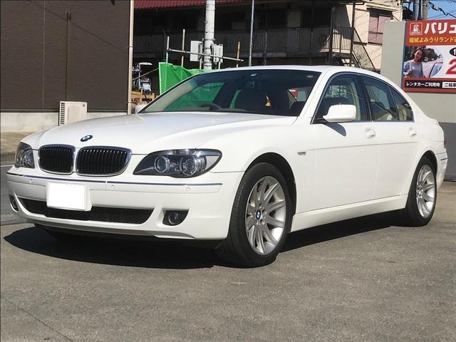BMW 7シリーズ 740i ナビ バックカメラ サンルーフ ETC AW オーディオ付 クルコン AC AT HID パワーウィンドウ スマートキー コーナーセンサー