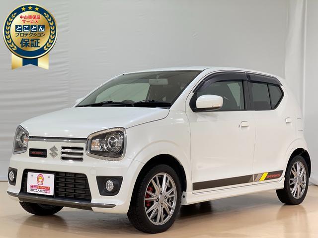 アルトワークス(スズキ) ベースグレード ・マニュアル車・4WD・ターボ車・ナビ・フルセグ・プッシュスタート・HIDヘッドライト・Bluetooth・オートエアコン・ETC・社外アルミ・RECAROシート 中古車画像