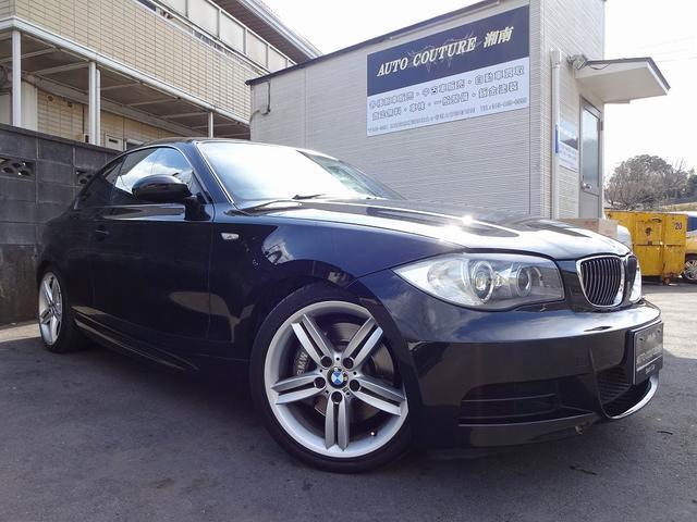 BMW 135i 純正HDDナビ 黒革シート ターボ キーレスキー