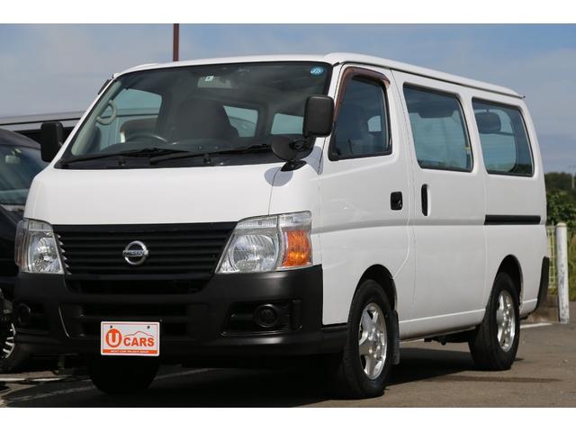 日産 ロングDX軽油ターボ 切替式4WD 両側ドア 純正AW ナビ