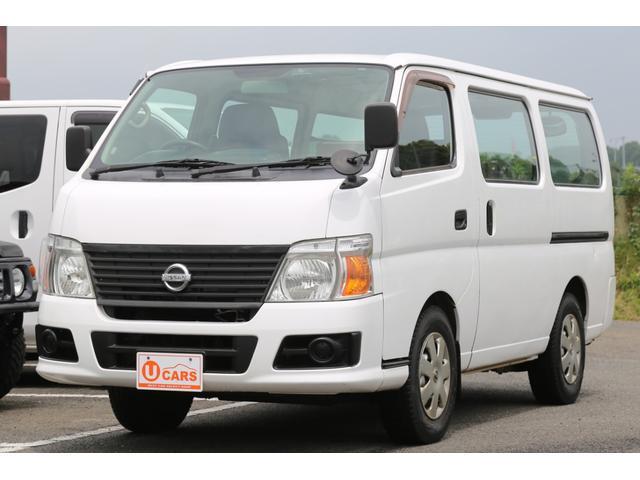日産 キャラバン ロングDX 4WD 軽油ターボ Nox適合 5ドア 社外ナビ