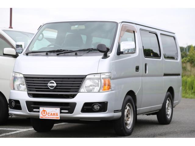 日産 キャラバン ロングDX 軽油ターボ 4WD ロングスーパーDX 軽油ターボ 4WD ETC/助手席パワーウィンドウ/電動格納式リモコンメッキドアミラー/スライドサイドウィンドウ/デュアルエアコン/リヤヒーター