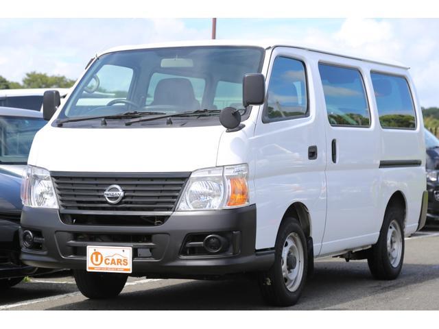 日産 ロングDX ガソリン 5速AT 両側スライドドア 平床 プライバシーガラス サイドウィンドウ・バックドア