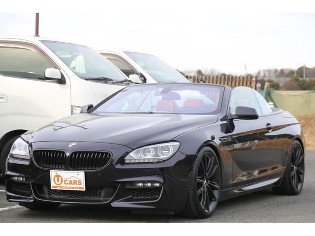BMW 6シリーズ 650iカブリオレ Mスポーツ 左ハンドル/赤革シート/シートヒーター/20AW/HDDナビ/USB/Bluetooth/ETC/バックカメラ/スマートキー/バイキセノン/ドラレコ/メモリーPシート/パドルシフト