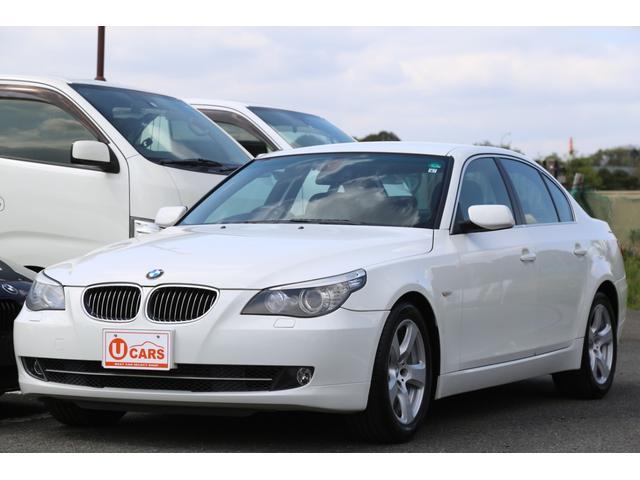 BMW 525iハイラインパッケージ 純正17インチAW/黒レザーシート/プッシュスタート/純正キーレス/スマートキー/ETC/HDDナビ/電動シート/シートヒーター/クルーズコントロール