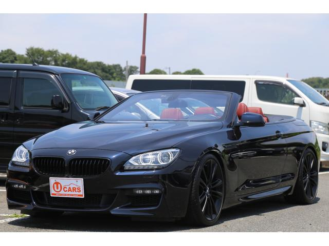 BMW 6シリーズ 650iカブリオレ Mスポーツ/左ハンドル/赤革シート/シートヒーター/20AW/HDDナビ/USB/Bluetooth/ETC/スマートキー/バックカメラ/バイキセノン/ドラレコ/メモリーPシート/パドルシフト