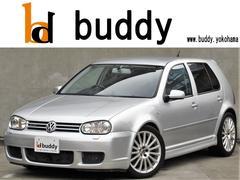 VW ゴルフR32 4WD6速MT黒革シート純正AWナビETC正規D車