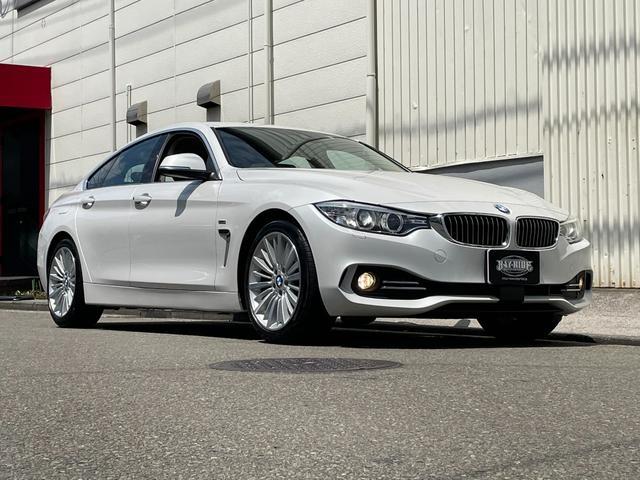 BMW 4シリーズ 420iグランクーペ ラグジュアリー ワンオーナー車 茶色本革シート シートヒーター スマートキー2個インテリジェントセーフティ レーンディパーチャーウォーニング