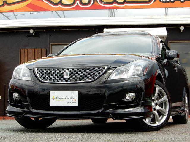 トヨタ 3.5アスリートGパッケージ SR 黒革 WALDエアロ