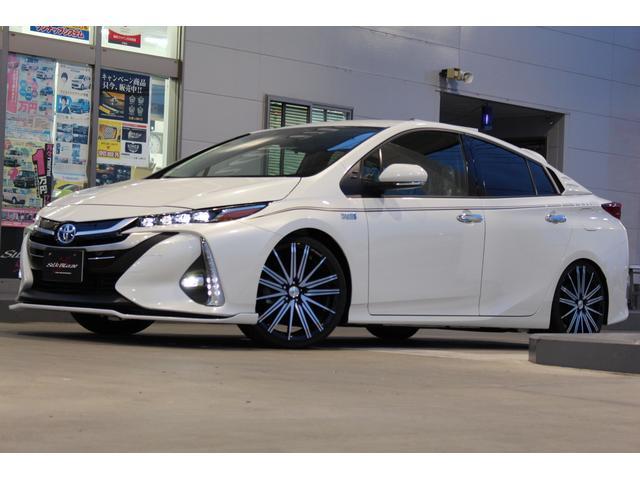 トヨタ S Kスペックデモカー車高調19インチアルミフロントリップ
