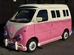エブリイジョイン ヴィンテージバス仕様 内装、外装カスタムペイント