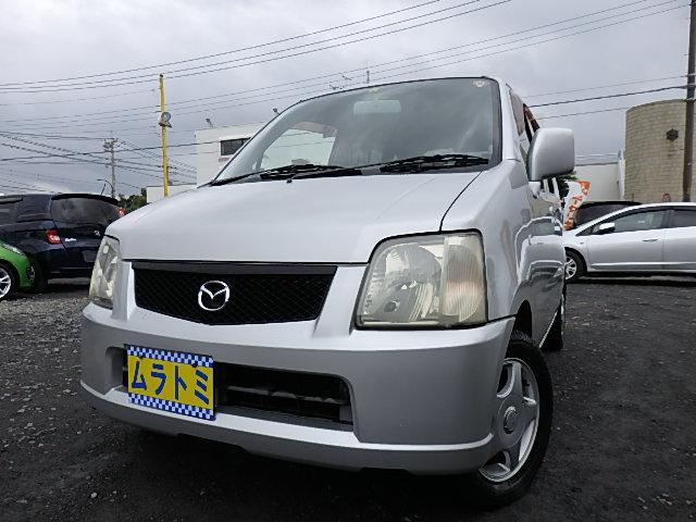 マツダ AZワゴン FM-G CD AUX ベンチシート キーレスキー バイザー Pガラス タイミングチェーン車
