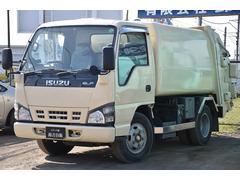 エルフトラック塵芥車 巻き込み式 ダンプ排出 5MT フジマイティ同年式