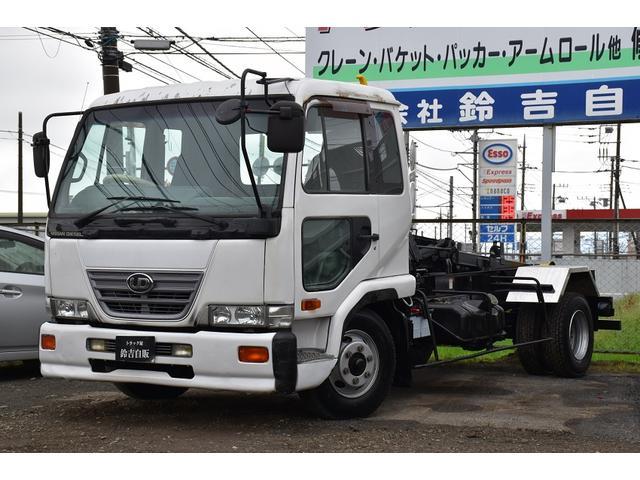 UDトラックス 極東フックロール 6MT フルキャブ 4t車