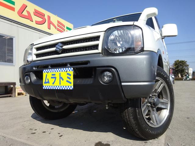 スズキ ランドベンチャー 4WD 5MT車 ターボ 6型 CDデッキ EPS ハーフレザーシート シートヒーター タイミングチェーン ルーフレール 背面タイヤ キーレスキー フォグライト 純正16インチアルミホイール ABS