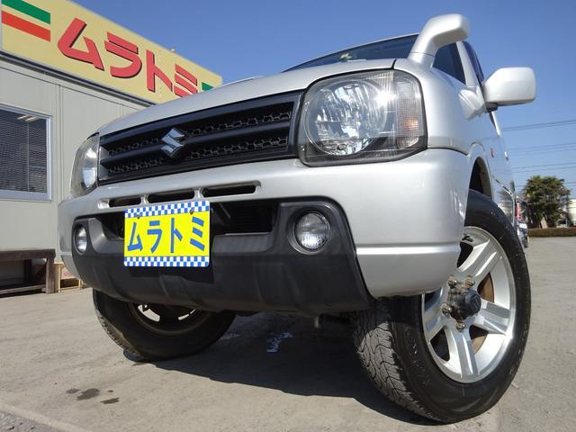スズキ XC 4WD ターボ 5型 タイミングチェーン バックカメラ キーレスキー 電格ミラー 純正CDデッキ フォグライト 純正16インチアルミホイール ルーフレール ABS 背面タイヤ EPS ドアバイザー