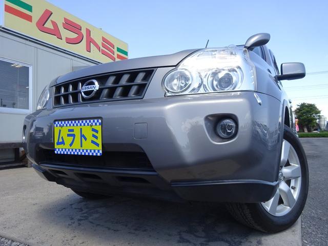 日産 エクストレイル 20Xt 4WD HDDナビ ワンセグTV HIDオートライト フォグライト ETC シートヒーター クルコン VDC キーレスキー GPSレーダー 革巻きステアリング 電格ミラー 純正17インチアルミホイール