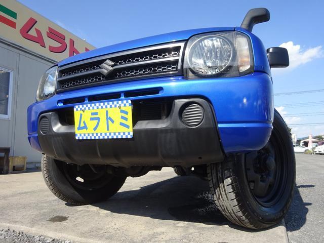 スズキ XG 4WD ターボ オートマ 社外CDデッキ 背面タイヤ 16インチホイール艶消し黒塗装 社外スピーカー&ツィーター ETC 黒革調シートカバー キーレスキー ABS ヘッドライトレベライザー