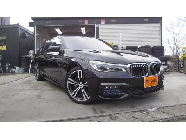 BMW 7シリーズ 740iMスポーツ 純正ナビ アラウンドビュー ミラーETC パワートランク インテリジェントセーフティー アクティブクルーズコントロール 黒革 サンルーフ ハーマンカードン