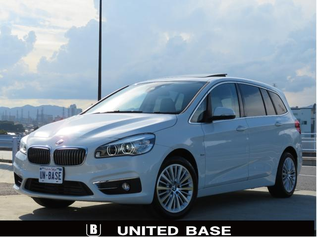 BMW 2シリーズ 218iグランツアラー ラグジュアリー 1オーナー 禁煙車 地デジ ベージュ革 パノラマSR ACC ヘディングモニター LEDヘッドライト 電動トランク Bluetooth完備 コンフォートアクセス インテリジェントセーフティー