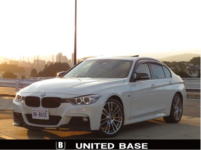 BMW 320d Mスポーツ 禁煙車 ベージュ本革 SR OP19AW Bluetooth シートH クルコン 新品リップスポイラー 新品グリル 新品Vストラットバー 新品カーボン調ミラーカバー 新品パドルSカバー